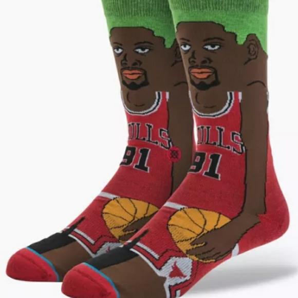 Stance Rodman Chicago Bulls Mens Large Socks New